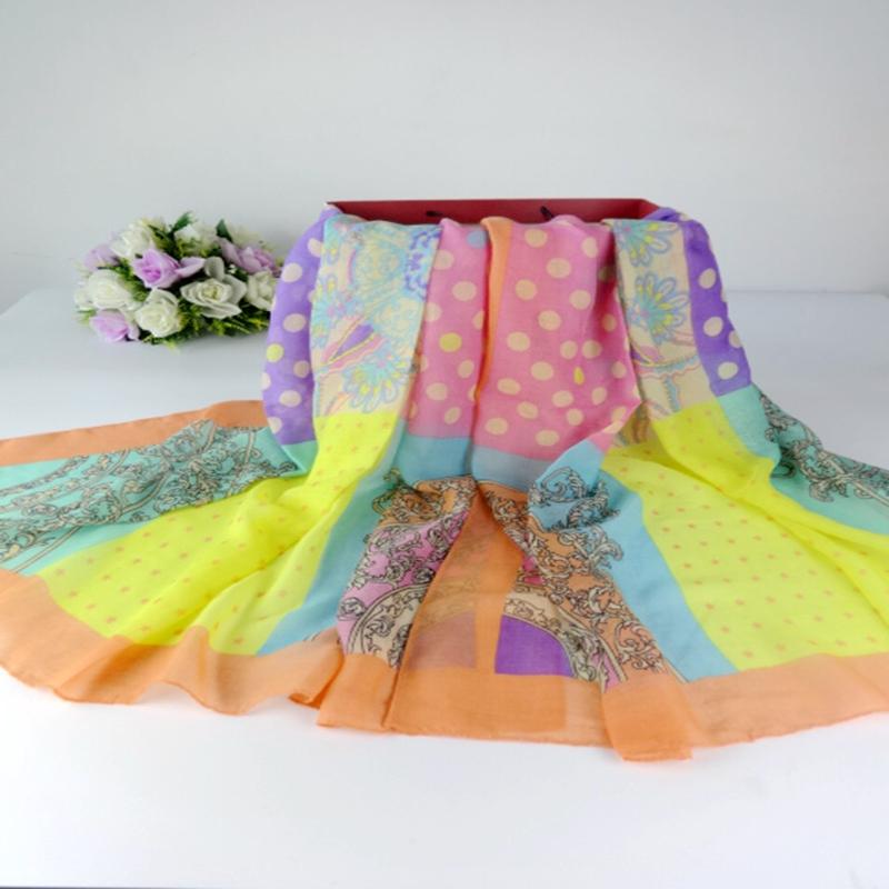 Polka Dots Scarf Floral ShawlsTassel Scarf Women Muslim hijab Shawls and scarves Ladies Scarves 2015Одежда и ак�е��уары<br><br><br>Aliexpress