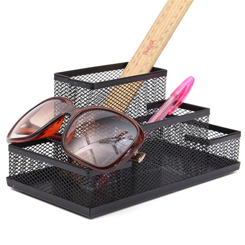 NEW Mesh Cube Metal Stand Combination Holder Desktop Accessories Stationery Organizer Pen Pencil Office Supplies Study Storage(China (Mainland))