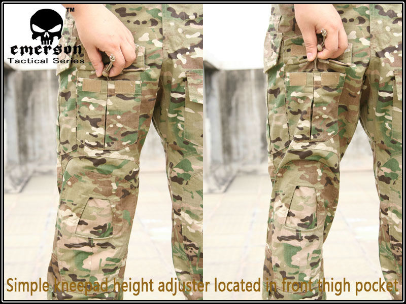 Emes military army pants G3 Pants Multicam trousers with knee Pads Military Army Airsoft cosplay uniform EM8527