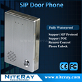 TCP IP Door Access Control SIP Door Bell VoIP Door Phone Audio Intercom System Support PBX with PoE Function