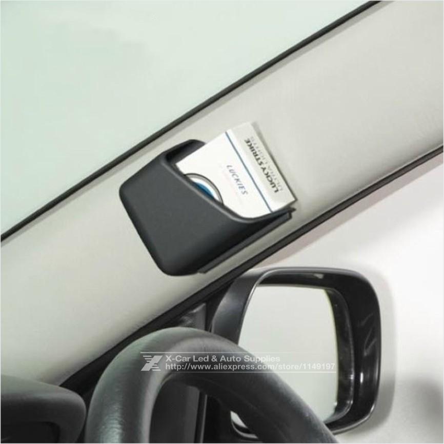 2Pcs/Lot Auto Supplies Black Grey Beige Car Phone Mobile Card Holder Auto Storage Box Car Phone GPS Card Storage Accessories<br><br>Aliexpress