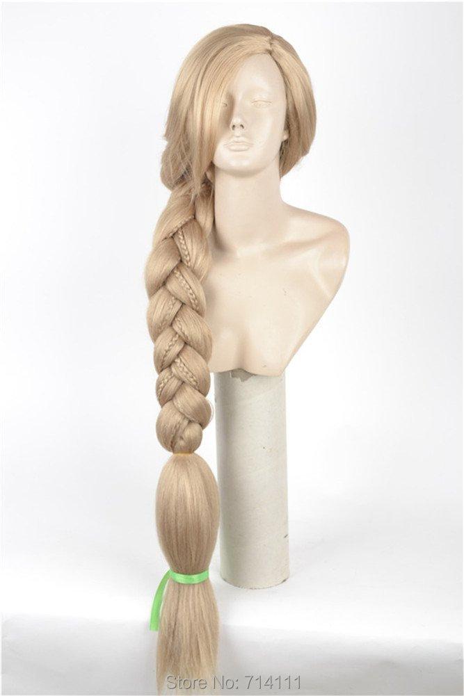Здесь можно купить  Tangled/Rapunzel 120cm Long Blonde Big Braid Straight Heat Resistance Cosplay Wig Hair  Волосы и аксессуары