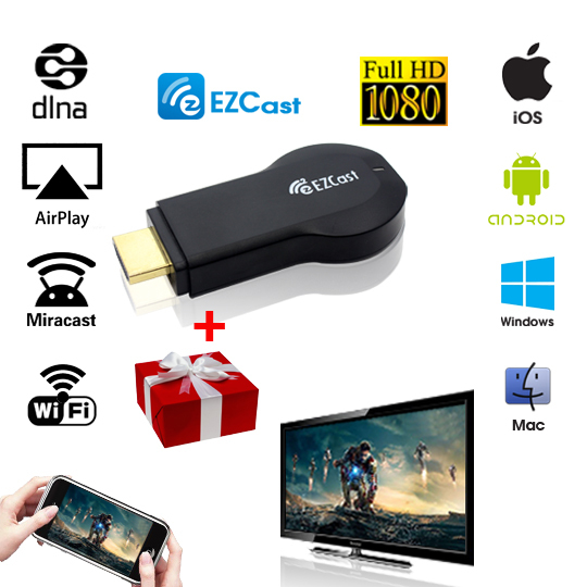 Smart Tv Stick EZcast Android Mini PC with function of DLNA Miracast better than Android tv box chromecast mk808 mk908 rk3288(China (Mainland))