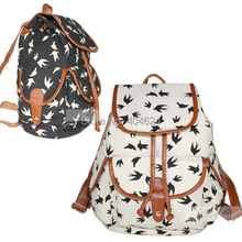 Fashion Women Bag Casual Bird Animal Printing Backpack Oversized Sport School Student Travel Bags Backpacks Teenager 4 Style(China (Mainland))