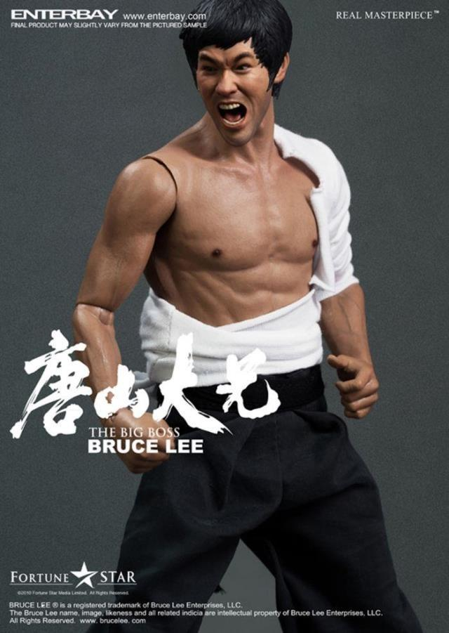 ENTERBAY 1/6 scale doll Model.12 Action figure doll,Bruce Lee in The Big Boss with tow head .Collection Model toy<br>