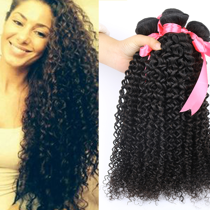 Brazilian Kinky Curly Virgin Hair Sale 7A Human Cheap 3 Bundles Afro - Hot Wave Store store