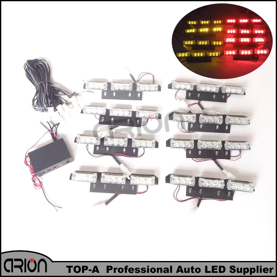 Super Bright 72 LED Emergency Warning Use Flashing Strobe Light Bar for Dash Amber Red customize Lights Lamp(China (Mainland))