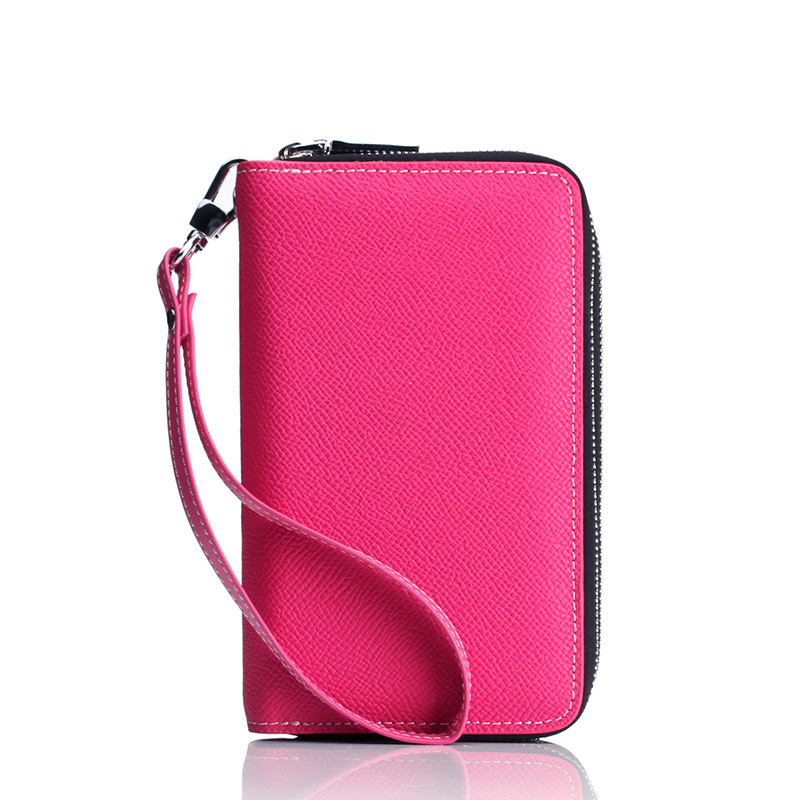 2015 Quality Casual Clutch Bag Women Handbags Leather Office Mini Bag Double Zip Female Purses And Handbag With Key Chain Holder<br><br>Aliexpress