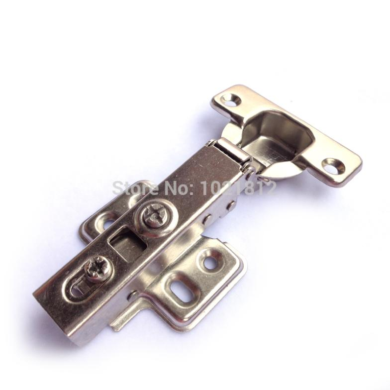1 Pair Full overlay Hydraulic Cabinet Hinge Soft Close Brass Buffering Fixed Base(China (Mainland))