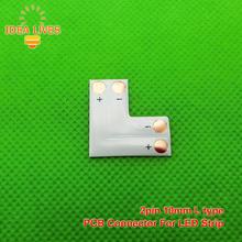 2pin 10mm «L» tipo de Tira LLEVADA Conector de PCB, 5 unids/lote