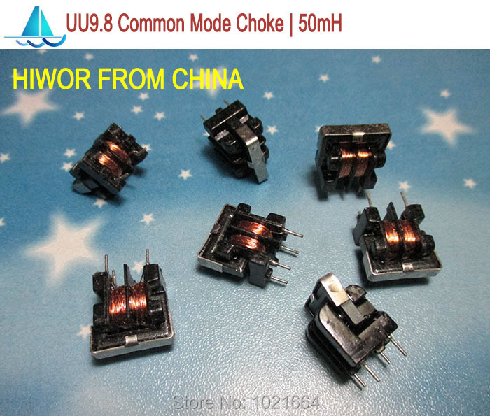 (50pcs/lot) UU9.8 50mH Common Mode Choke Inductor For Filter<br><br>Aliexpress