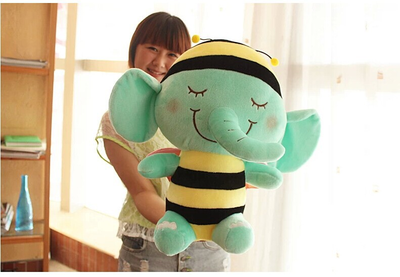 big lovely plush elephant toy sleeping shy elephant doll pillow toy birthday gift about 45cm Mint green<br><br>Aliexpress