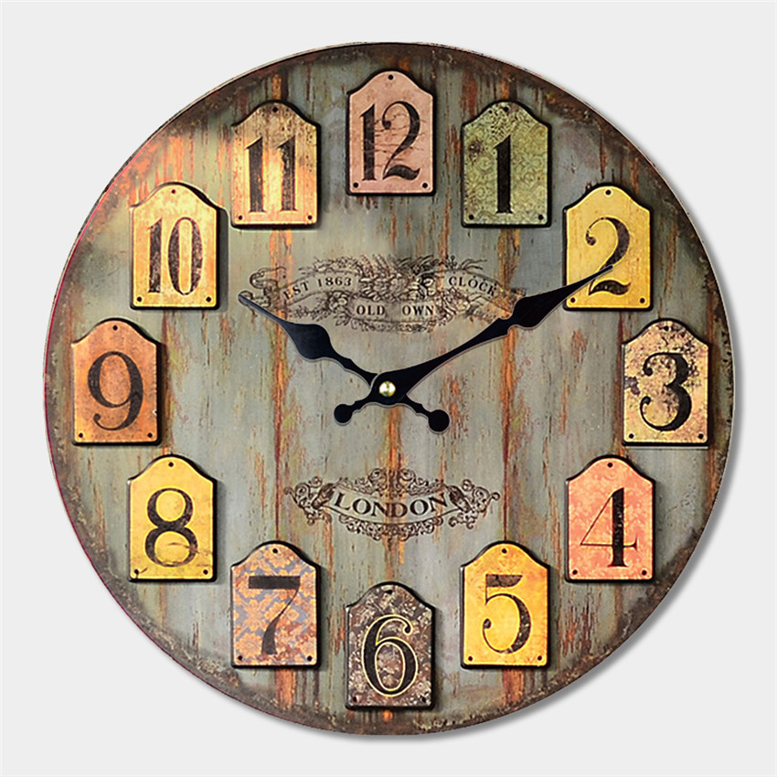 Decorative Large Wall Clock Modern Design Fashion Silent