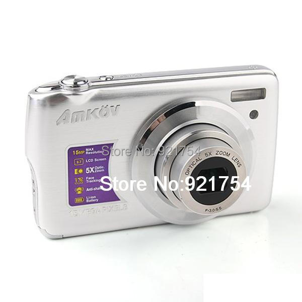 Amkov 800 OE 2.7 Inch LCD 15.0MP Digital Camera Silver(China (Mainland))