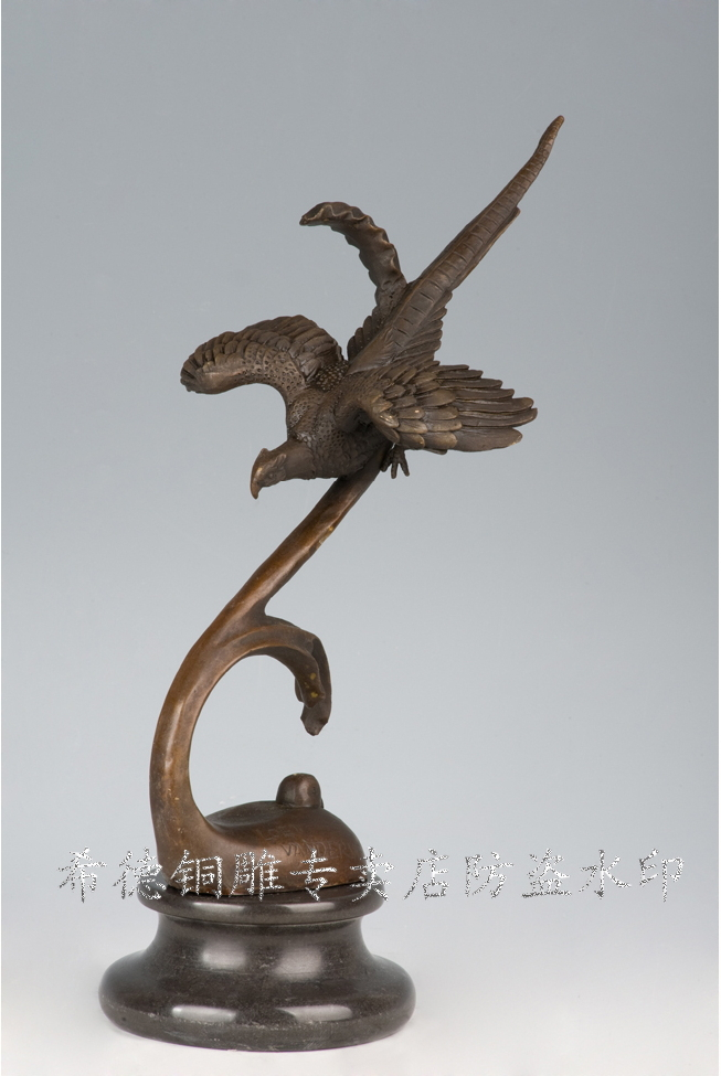 Garden decor statues bronze animal sculptures flying bird Home decor sculptures