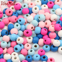 Buy 200Pcs 8mm Wooden Beads Wood Findings Baby DIY Crafts Kids Toys Teething Necklace Pacifier Clip Spacer Beading Bead for $1.79 in AliExpress store
