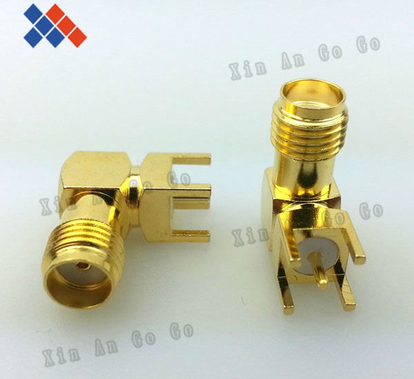 5 pcs RF adapter SMA female Thru Hole plug Right Angle PCB Mount connector Free shipping<br><br>Aliexpress