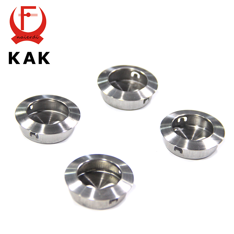 Brand KAK Home Cabinet Stainless Steel Hidden Handles Drawer Wardrobe Embedded Knobs Invisible Handle For Furniture Hardware(China (Mainland))
