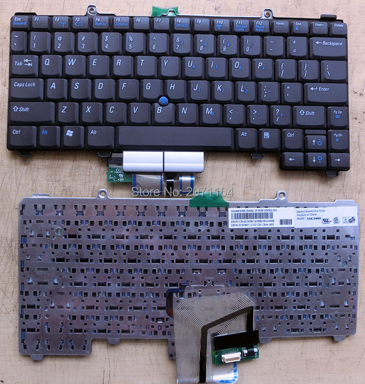 100% of the original components suitable for DELL latitude D400 Dell laptop keyboard with English pointing(China (Mainland))