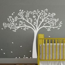 Buy White Tree Wall Sticker Inspiration Baby Nursery Room Removable Vinyl Art Decor DIY Wall Decals 87*69inches 40 colors for $47.77 in AliExpress store