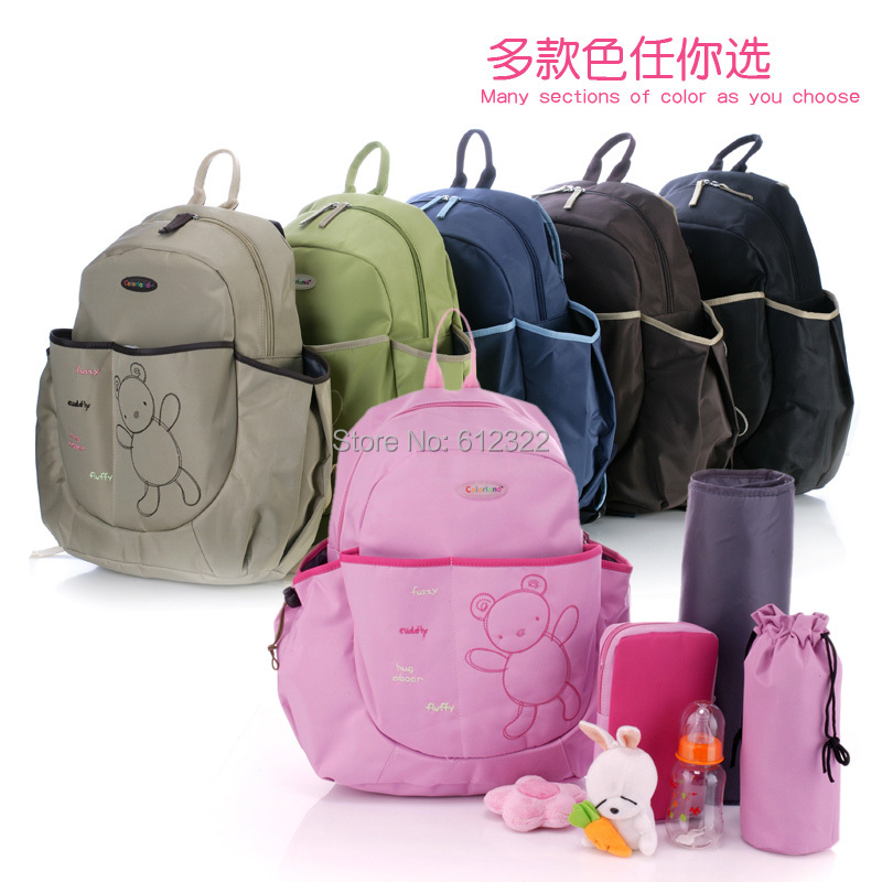 Free shipping 3pc/set Colorland Cute Bear Baby Diaper Bags,Baby Backpack Maternity Bag Nappy Bags Baby Nappy Products for Mom(China (Mainland))