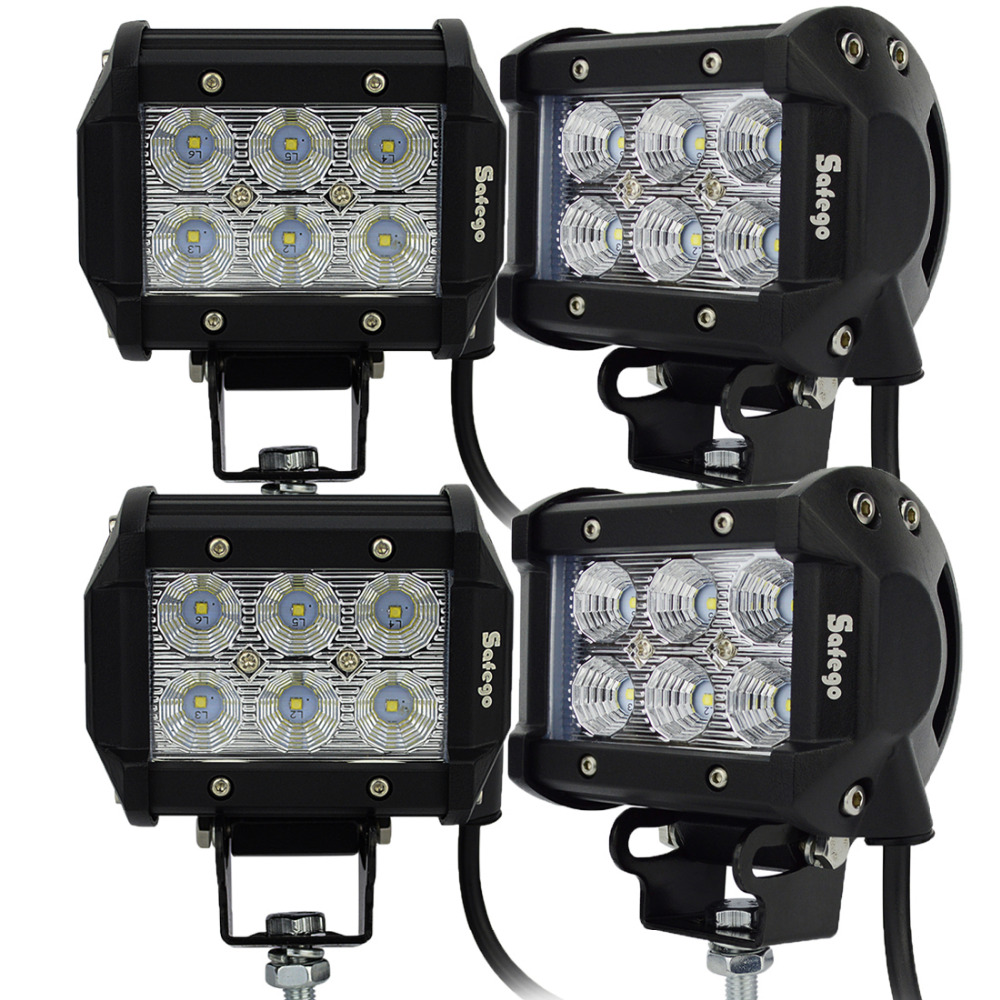 4pcs 12V/24V 18W led work light 18W cree LED offroad led light bar tractor truck work working 4 inch 6 led 18W led driving light<br><br>Aliexpress