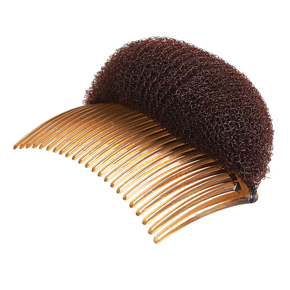 Ladies Fashion Hairstyle Bouffant Beehive Shaper Bumpits Foam On Comb Clip New F#OS(China (Mainland))