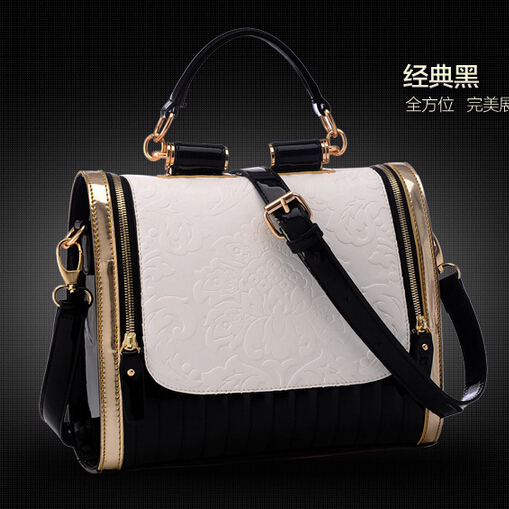 Elegant Style Women Shopping Handbags Patchwork Shoulder Bags Tote Leather Neverful women bags - Fujian Hengsheng Co., Ltd store