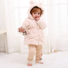 Buy 6M 3T baby & infant girls cartoon bear hooded fleece autumn winter jacket & coat toddler girl fashion casual outerwear clothe for $23.80 in AliExpress store