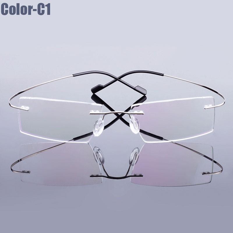 New Arrival 9 colors fashion rimless glasses frame memory Alloy eyeglasses prescription ultralight frame(China (Mainland))