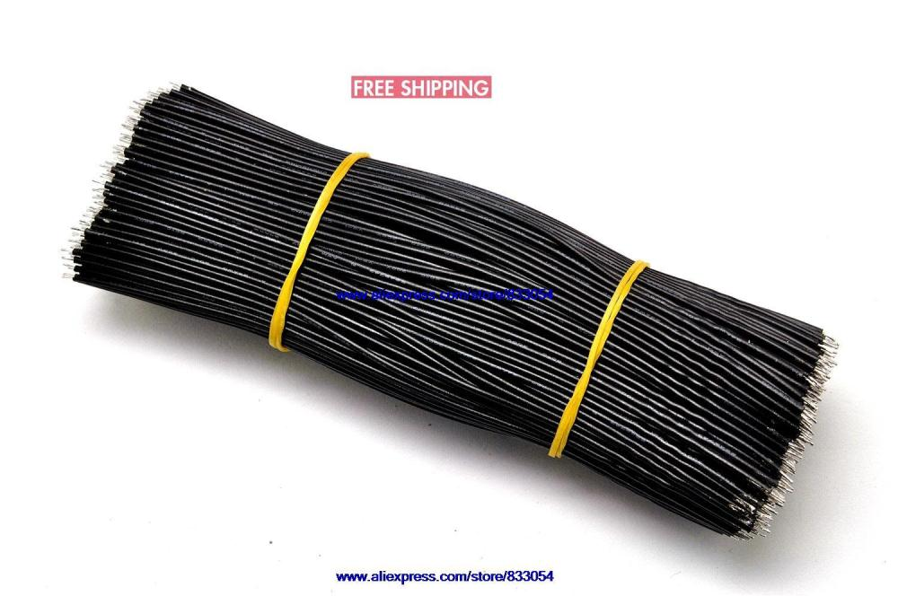 Aberdeen 15CM 24AWG wire black wire electronic wire cable tinned 200PCS<br><br>Aliexpress