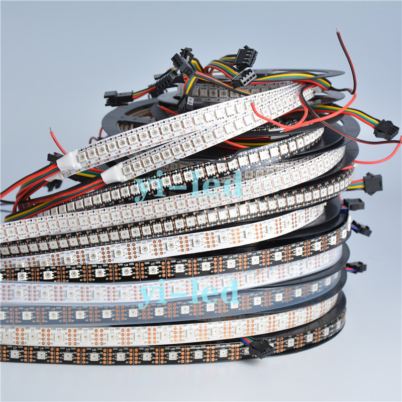 1m/5m APA102 Smart led pixel strip,Black/White PCB,24/36/60/96/144 leds/pixels/m ,IP30/IP65/IP67 DATA and CLOCK seperately DC5V(China (Mainland))