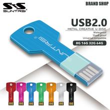 Suntrsi USB Flash Drive 64GB Metal Key Pendrive 64GB Waterproof Pen Drive USB 2.0 USB Stick Memory Stick USB Flash Custom Metal(China (Mainland))