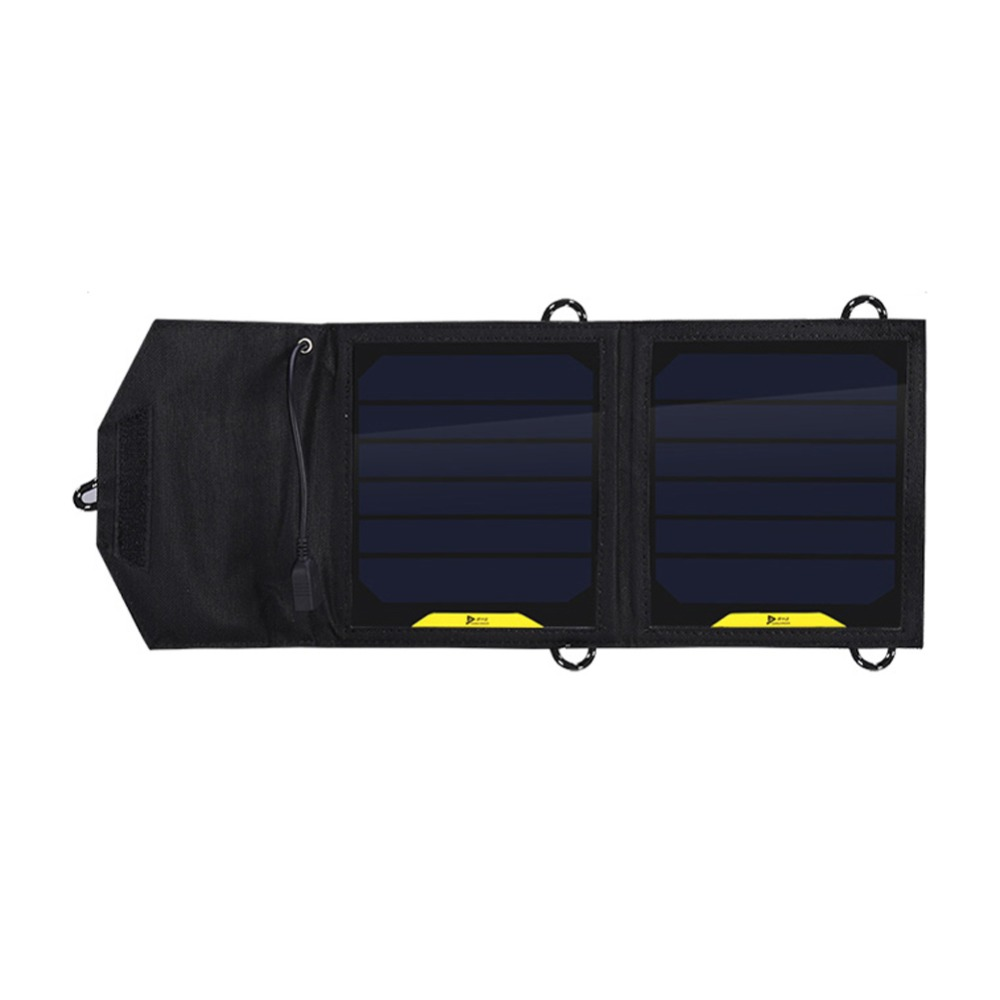Foldable Camping 5V 7W Solar Panel Power Outdoor Power Cell Charger for iPhone 6s 6 Plus for Smartphones Digital Camera GPS(China (Mainland))
