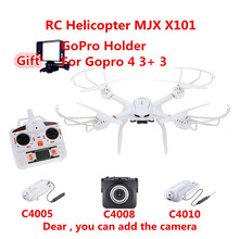 Professional RC Drone MJX X101 RC quadcopter drones rc helicopter 6-axis or drone with C4005 c4008 c4010 HD FPV Real-time camera