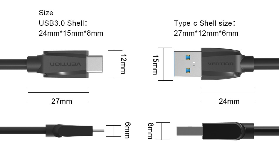 Vention Type-C 2.0 3.0 Cable USB Data Sync Charge Cable For Nokia N1 Macbook OnePlus 2 ZUK Z1 Xiaomi 4c MX5 Pro