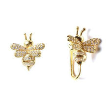 REETI 925 Sterling Silver Bees gold Stud Earrings For Women 2018 New Trend Personality Lady Fashion Jewelry(China)