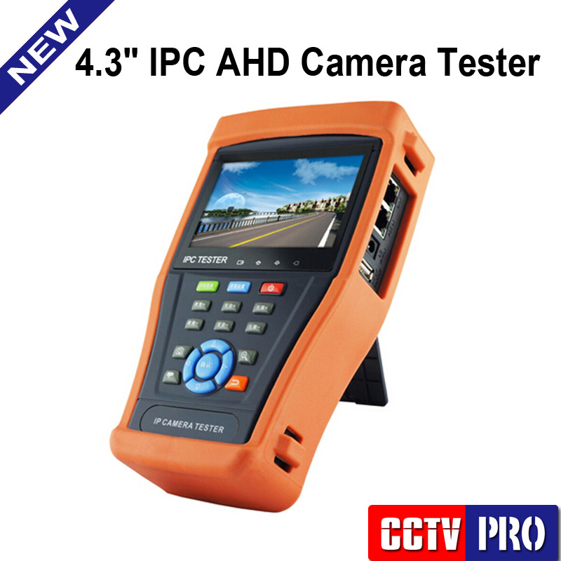 Onvif IP Camera Tester Monitor With 4.3 inch LCD Touch Screen CCTV Tester WIFI + Analog AHD Camera Test, PTZ Control, POE Test(China (Mainland))
