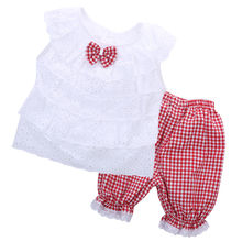 2PCS Kids Baby Girl Clothes sets T-shirt Tops + Short Pants(China (Mainland))