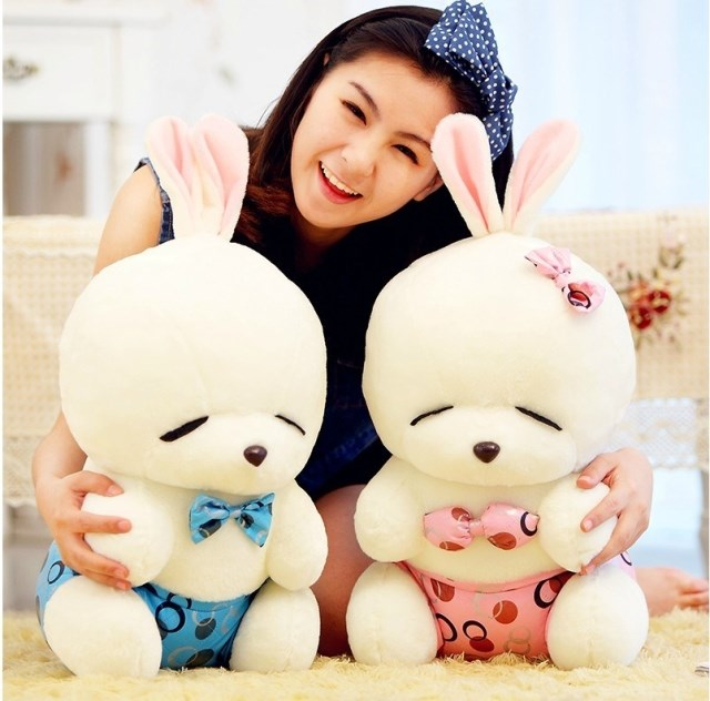 40cm Recording Mashimaro doll cute dolls, plush toys repeat any language, the girls recording russian language gifts(China (Mainland))