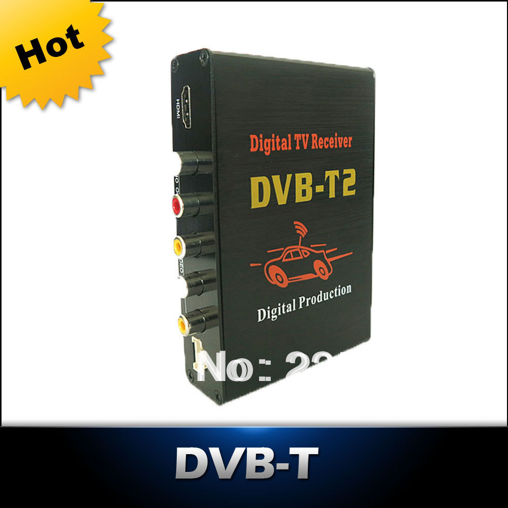 Free Shipping - Car DVB-T2 Receiver Digital TV BOX Tuner Receiver DVB-T2 Set Top Box <br><br>Aliexpress