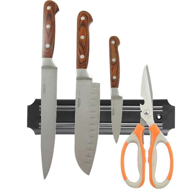 Strong Magnetic Knife Holder Tool Rest Shelf for Kitchen Knife Holder Pub Bar Counter Black Knife Holder(China (Mainland))