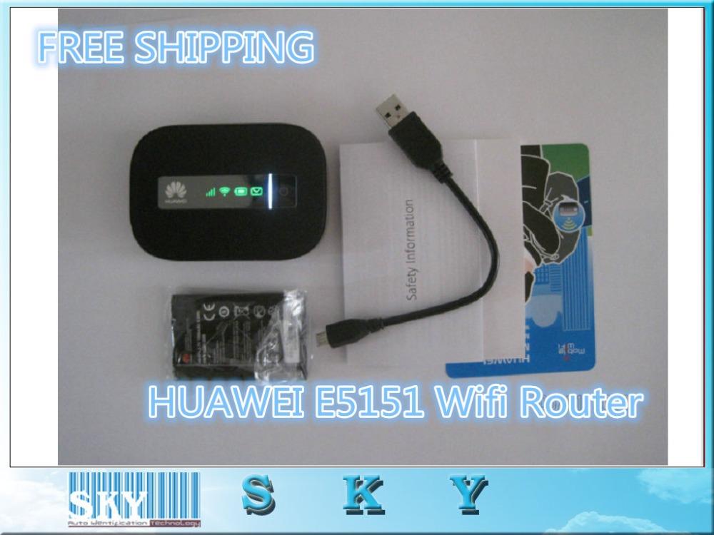 1PCS/LOT Free Shipping Unlock HUAWEI E5151 Router two-thread lan cat 3g router 3g wireless router wifi(China (Mainland))