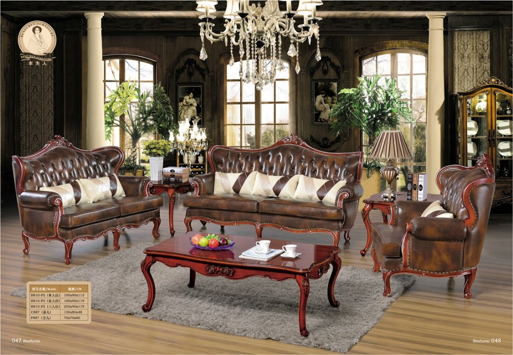 Sofas For Living Room Real European Style Set Antique Bean