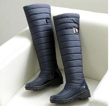 Nueva Llegada Mantienen Botas de Nieve Caliente de La Manera Cómoda Plataforma Del Muslo Botas Altas hasta la rodilla Caliente Botas de Invierno para Las Mujeres de Gran tamaño(China (Mainland))