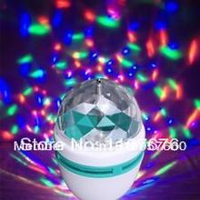 Buy Free Full Color 3W E27 RGB LED Small Crystal Magic Ball Light Rotating DJ party stage Bulb rotating Lamp Bar decoration for $39.90 in AliExpress store
