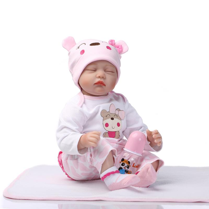55cm Silicone reborn baby doll toys lifelike newborn girls baby play house girls brithday gifts reborn dolls collect<br><br>Aliexpress