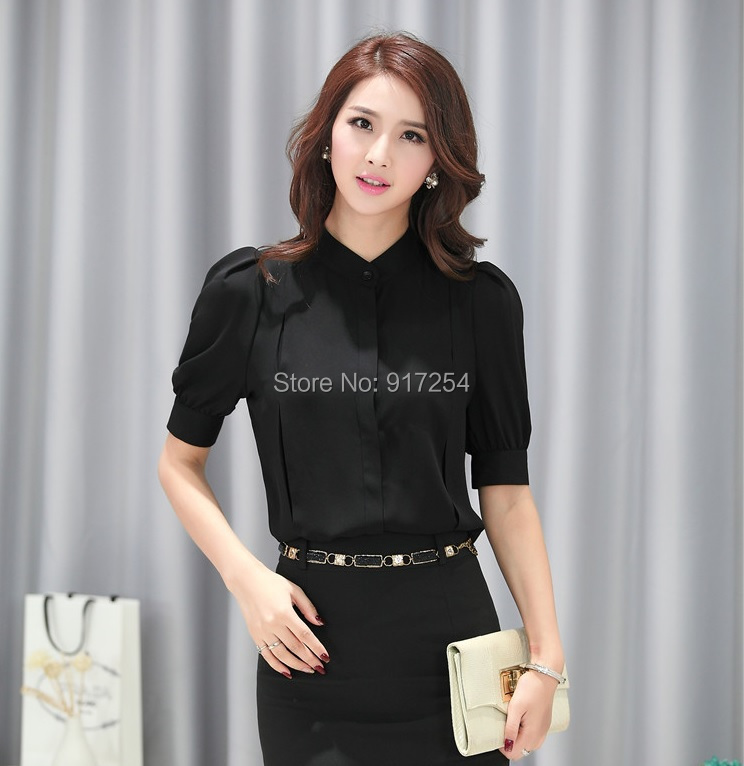 Popular Black Work Tops-Buy Cheap Black Work Tops lots from China ...