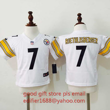 100% stitch baby Pittsburgh Steelers toddler 7 Ben Roethlisberger 43 Troy Polamalu 26 LeVeon Bell Embroidery Logos size S to L(China (Mainland))