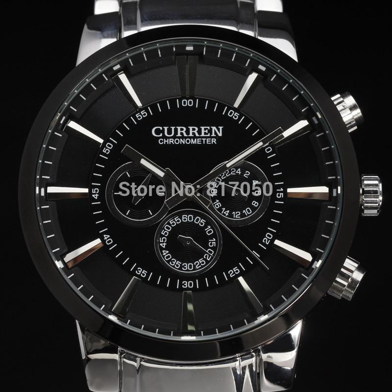 Гаджет  2015 new curren ultrl big dial retro fashion design luxury full steel stainless men male wrist quartz watch 4195 None Часы
